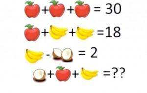 Mollë, banane dhe arrë kokosi, zgjidhni kuicin