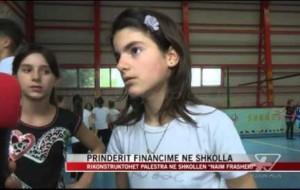 """Rikonstruktohet palestra në shkollën """"Naim Frashëri"""""""
