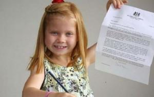 7-vjeçarja i dërgon një letër ish-kryeministrit britanik