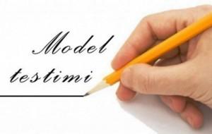Model testimi në lëndën Dituri Natyre, klasa e pestë