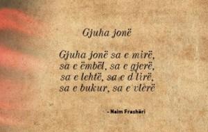"""Gjuha shqipe, """"zonjë e ngrysur"""""""