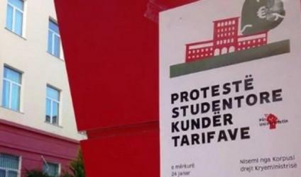 Tarifa e shkollimit, protestojnë studentët