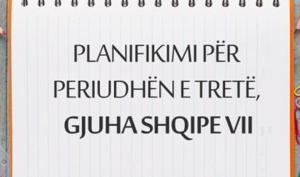 Planifikimi për periudhën e tretë, gjuha shqipe VII