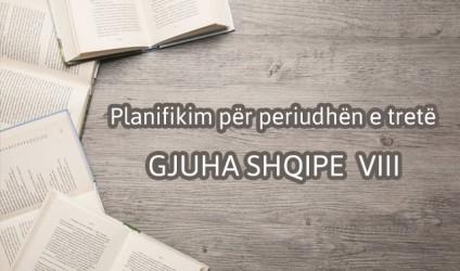Planifikimi për periudhën e tretë, gjuha shqipe VIII
