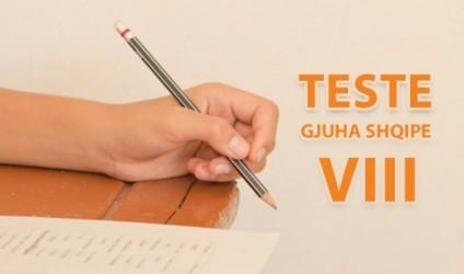 Testim, gjuha shqipe, klasa e VIII