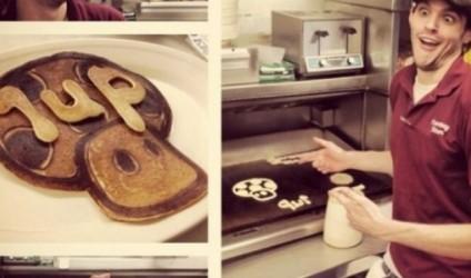 """""""Dr. Dan The Pancake Man"""", artisti që pikturon në tigan!"""
