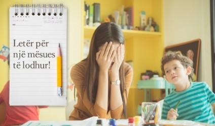 Letër për një mësues të lodhur!
