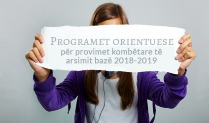 Programet orientuese për provimet kombëtare të arsimit bazë 2018-2019