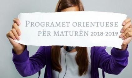 Programet orientuese për maturën shtetërore 2018-2019
