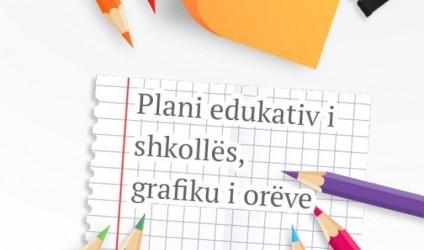 Plani edukativ i shkollës, grafiku i orëve