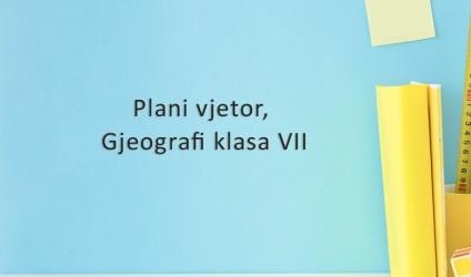 Plani vjetor, gjeografi klasa VII