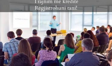 Trajnim me kredite në Tiranë, 18 dhe 19 Janar