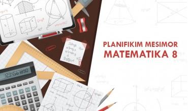 Planifikim mësimor, lënda matematikë 8
