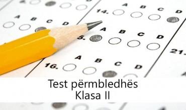 Test Përmbledhës, klasa e dytë
