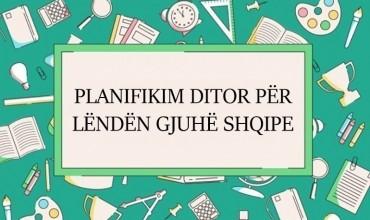 Plan Ditor, Gjuha shqipe, Shkalla V/ Klasa XI