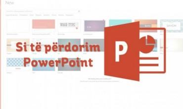 PowerPoint, udhëzues se si përdoret hap pas hapi