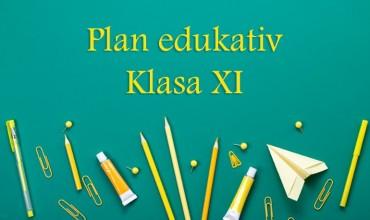 Plani edukativ për klasën e XI-të