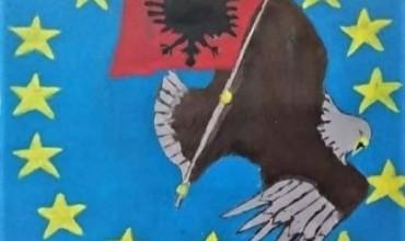 Kjo do të jetë piktura më domethënëse e festave të nëntorit, krijuar nga 11-vjeçari, Agim Doka