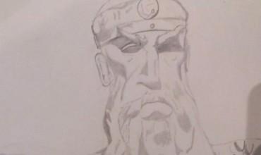 Portreti i Skënderbeut nga nxënësi Noel Lleshi