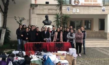 """Gjimnazi """"Sami Frasheri"""" solidarizohet me të prekurit nga termeti"""