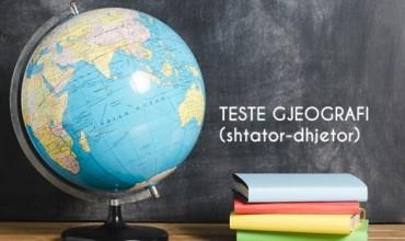 Gjeografi, teste përmbledhëse për periudhën e parë për klasën VI, VIII, X, XII