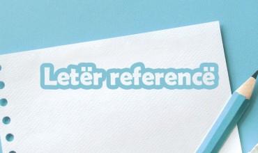 Model i një letër reference e mësuesit mentor për praktikantin/en