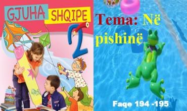 """Gjuha shqipe 2, tema mësimore """"Në pishinë"""""""