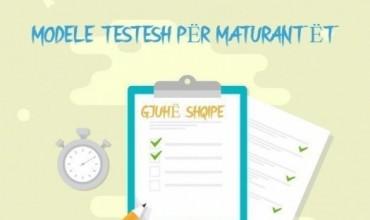 Modele testesh në mbështetje të maturantëve, kompetenca: përdorimi i gjuhës shqipe në komunikim