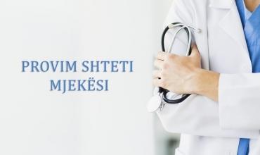 Organizimi dhe kalendari i provimeve të shtetit për profesionin e farmacistit, mjekut dhe stomatologut