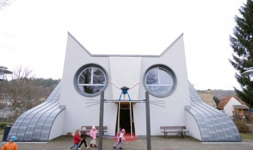 Kopshti gjerman i krijuar si një mace gjigante