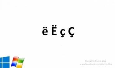 """Si të shkruajmë shkronjat e gjuhës shqipe """"ë"""", """"Ë"""", """"ç"""", """"Ç"""" me një tastierë italiane!"""