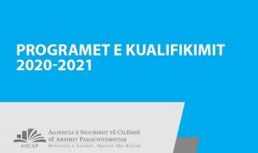 Kualifikimi i mësuesve 2020-2021, programet për të gjitha profilet