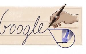 Google Doodle përkujton shpikjen e stilolapsit