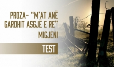 Migjeni - M'at anë gardhit asgjë e re, test i mbështetur mbi komentet e çelësit të Letërsisë dhe Gjuhës shqipe