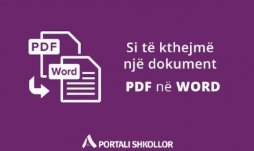 Si të kthejmë një dokument nga PDF në WORD?