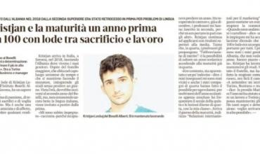 Maturanti shqiptar në Itali mahnit komisionin vlerësues me rezultatin e provimit